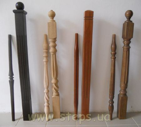 Typical sets of balusters